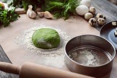 Sistema de los productos para cocinar Foto de archivo
