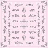 Sistema de los remolinos caligráficos f de los elementos románticos decorativos del diseño libre illustration
