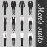 Sistema de los trajes de los hombres stock de ilustración