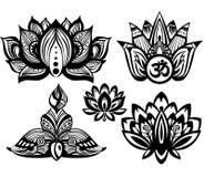 Sistema de Lotus ornamental Imagenes de archivo