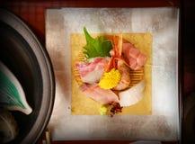 Sistema de lujo del Sashimi Foto de archivo libre de regalías
