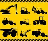 Sistema de máquinas de la construcción pesada Vector Imagen de archivo
