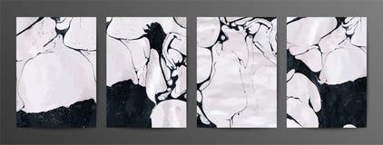 Sistema de m?rmol blanco y negro del contexto del vector de la textura libre illustration