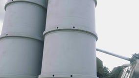 Sistema de mísseis da defesa aérea video estoque