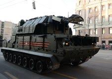 Sistema de mísseis de defesa aerotático Tor-M2U Fotos de Stock