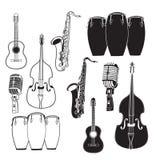 Sistema de música de jazz Fotografía de archivo