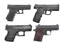 Sistema de 9 m semi automático pistola de la arma de mano de m aislada en blanco Imágenes de archivo libres de regalías