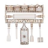 Sistema de madera de accesorios decorativos de la cocina Fotos de archivo
