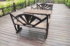 Sistema de madera de la mesa de comedor Foto de archivo