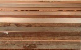 Sistema de madera de la teca fotos de archivo