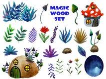 Sistema de madera m?gico libre illustration