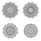 Sistema de mandalas Colección de la mandala del vector para su diseño Fotografía de archivo libre de regalías