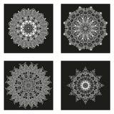 Sistema de mandalas Colección de la mandala del vector para su diseño Foto de archivo libre de regalías