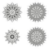 Sistema de mandalas Colección de la mandala del vector para su diseño Fotos de archivo libres de regalías