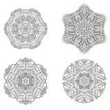 Sistema de mandalas Colección de la mandala del vector para su diseño Imagen de archivo