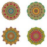 Sistema de mandalas Colección de la mandala del vector para su diseño Imagen de archivo libre de regalías