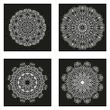 Sistema de mandalas Colección de la mandala del vector para su diseño Imágenes de archivo libres de regalías