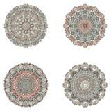 Sistema de mandalas Colección de la mandala del vector para su diseño Foto de archivo