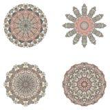 Sistema de mandalas Colección de la mandala del vector para su diseño Fotografía de archivo