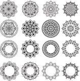 Sistema de mandalas stock de ilustración