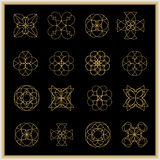 Sistema de mandalas o de elementos geométricos Imagenes de archivo