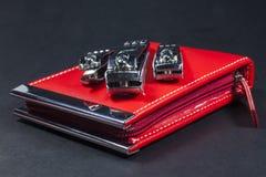 Sistema de manicura rojo Foto de archivo
