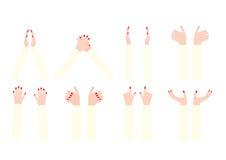 Sistema de manos de la mujer Foto de archivo
