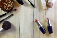 Sistema de maquillaje de los cosméticos Fotos de archivo