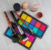 Sistema de maquillaje profesional Foto de archivo libre de regalías