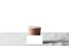 Sistema de marcado en caliente de la maqueta de la identidad del café Fotografía de archivo libre de regalías