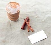 Sistema de marcado en caliente de la maqueta de la identidad del café Foto de archivo