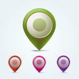 Sistema de marcadores del mapa del vector Fotos de archivo libres de regalías