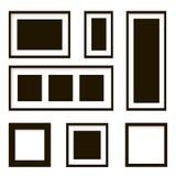 Sistema de marcos de madera Ilustración del vector Foto de archivo libre de regalías