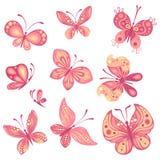 Sistema de mariposas Fotos de archivo