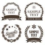 Sistema de Mark Decorative Labels comercial stock de ilustración