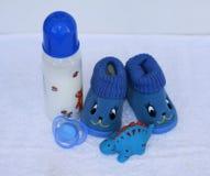 Sistema de materia de moda de la ropa y de niños de la moda para el pequeño bebé Foto de archivo