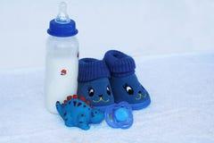 Sistema de materia de moda de la ropa y de niños de la moda para el pequeño bebé Imagen de archivo