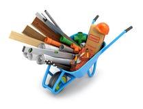 Sistema de materiales de construcción stock de ilustración