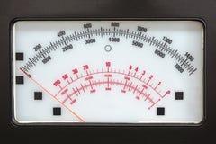 Sistema de medida retro com escala análoga Imagem de Stock