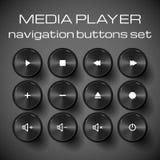 Sistema de medios botones del control. Imagenes de archivo