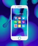Sistema de medios iconos sociales populares libre illustration
