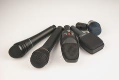 Sistema de micrófonos de la etapa Fotografía de archivo libre de regalías