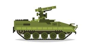 Sistema de misiles antitanques automotor Investigación, inspección, estudio óptico, misiles, ataque aéreo Equipo para la guerra t ilustración del vector