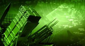 Sistema de misiles y radar Imagen de archivo libre de regalías