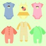 Sistema de moda del bebé Foto de archivo libre de regalías