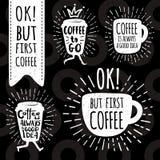 Sistema de moda del vector del café ilustración del vector