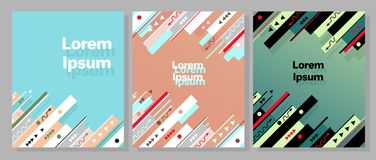 Sistema de moda moderno del vector de la plantilla del diseño gráfico libre illustration