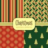 Sistema de modelos de la Navidad Imagenes de archivo