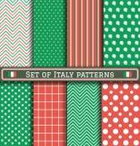Sistema de modelos del Día de la Independencia de Italia Imágenes de archivo libres de regalías