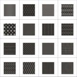 Sistema de 16 modelos geométricos abstractos Fotos de archivo